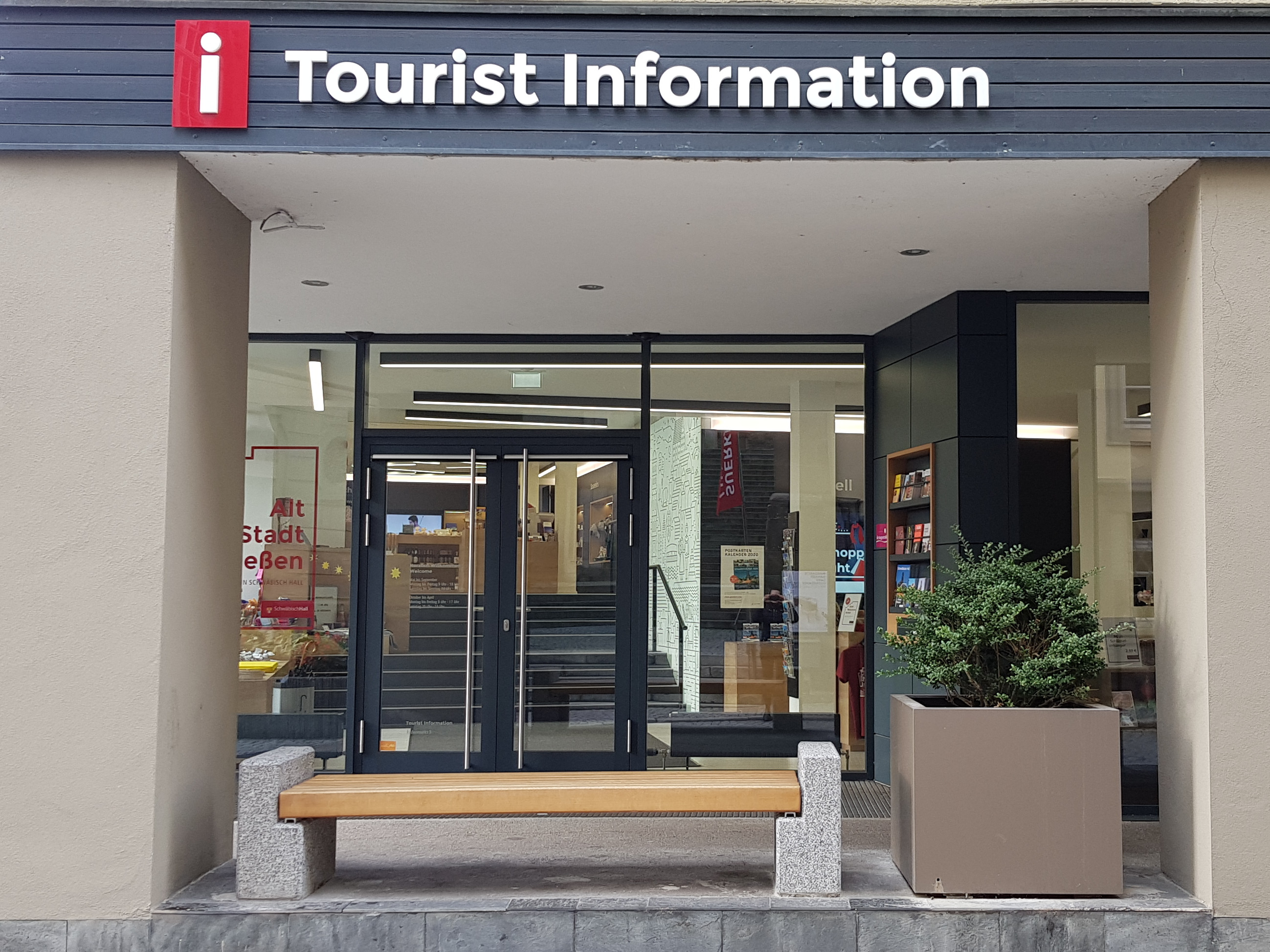 Die Tourist Information. Foto: Touristik und Marketing Schwäbisch Hall.